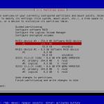 Sélectionner la partition RAID1 de 256 Mio
